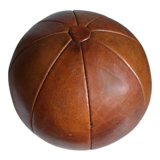 Vintage leather medicine ball by Platura