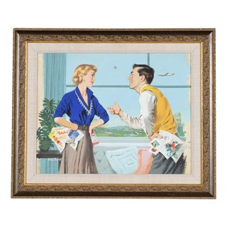 1950s Ward Brackett Original Advertising Painting