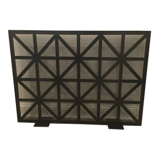 Custom Bronze Finish Metal Firescreen