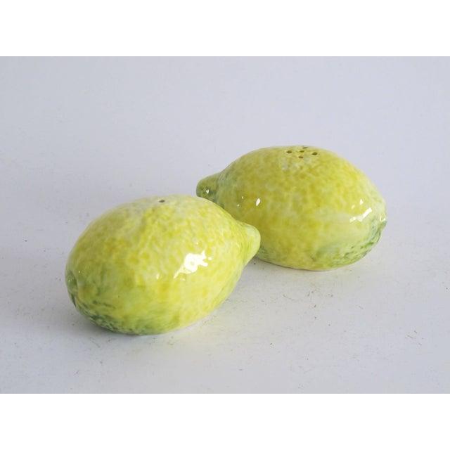 Image of Italian Ceramic Lemon Salt & Pepper Holders