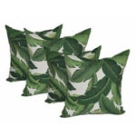 Image of Green Swaying Palms Pillows - Set of 4