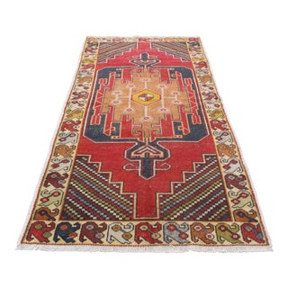 Antique Turkish Anatolian Tribal Wool Rug - 4′3″ × 9′1″