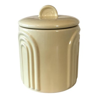 Retro 1980's Yellow Kitchen Canister