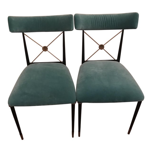 Jonathan Adler Rider Dining Chairs- A Pair - Image 1 of 5
