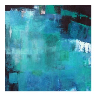 """""""Midnight Reflections"""" in Shades of Blue Original Abstract Painting by Paul Ashby"""