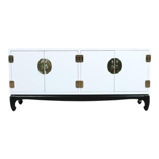 Contemporary White Lane Credenza