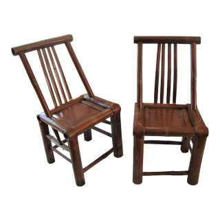 Primitive Bamboo Chairs - A Pair