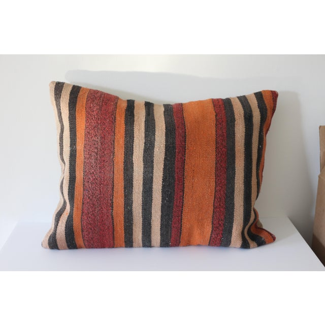Vintage Boho Turkish Kilim Pillow - Image 2 of 4