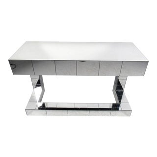 Paul Evans Style Contemporary Mirrored Writing Desk