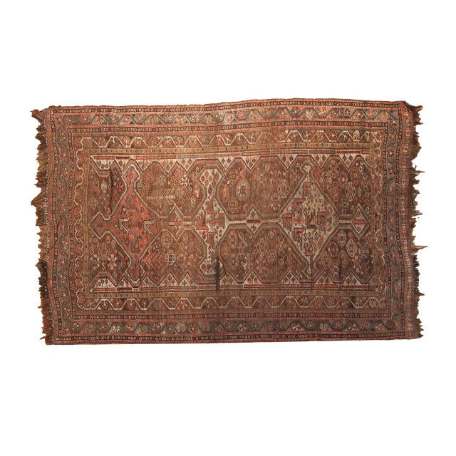 "Antique Kamseh Rug - 4'6"" x 6'8"" - Image 1 of 10"