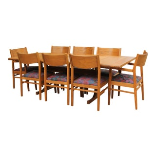 Conant Ball Oak Dining Table and 8 Chairs