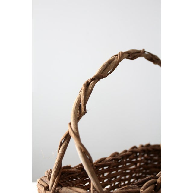 Primitive Wicker Twig Basket - Image 4 of 6