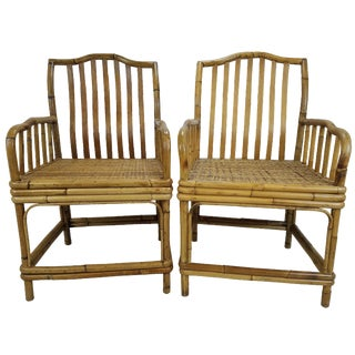 Vintage Bamboo & Rattan Chairs - A Pair