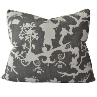 Shantung Silhouette by Schumacher Linen Pillow
