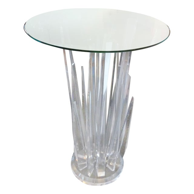 Haziza Rock Bar Lucite Crystal Table - Image 1 of 11