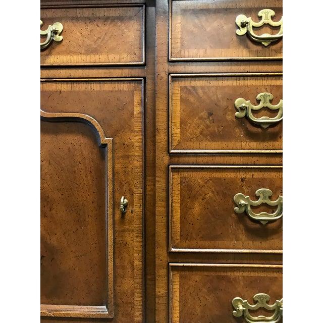 HENREDON 18th Century Portfolio Banded Walnut Sideboard Credenza - Image 9 of 11
