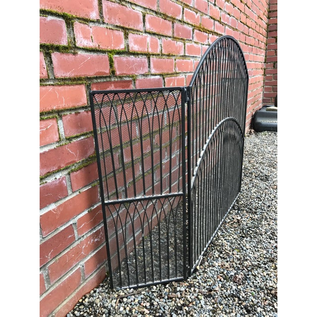 Black Iron Fireplace Screen - Image 4 of 5