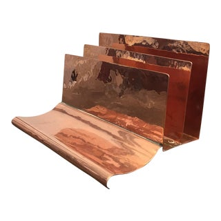 Copper File Sorter With Pen Rest