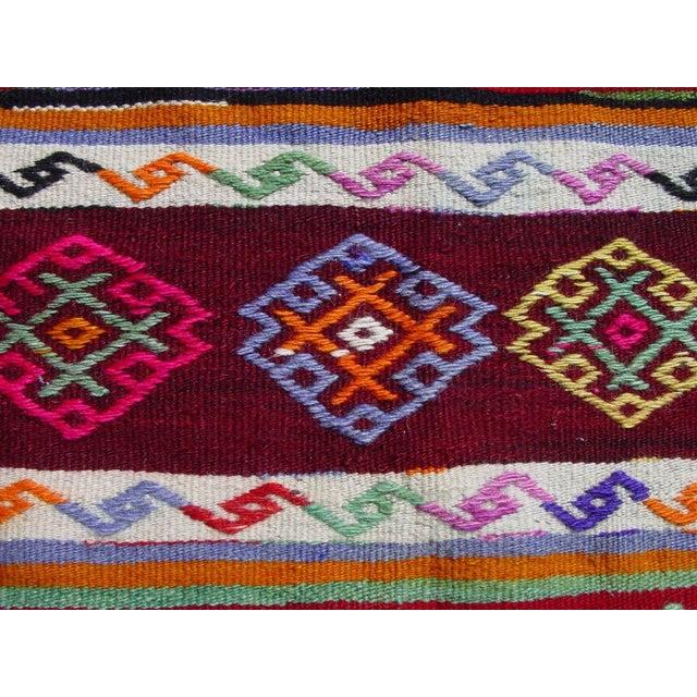 "Vintage Handwoven Turkish Kilim Rug - 5'11"" x 9'6"" - Image 6 of 11"