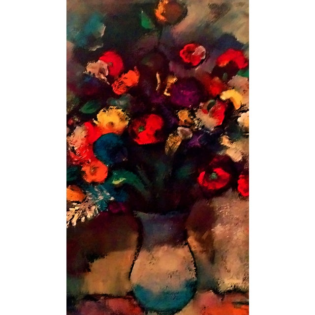Image of Ozz Franca Floral Lithograph on Board