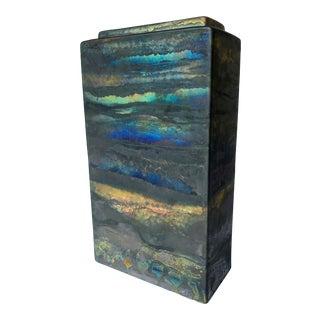 Iridescent Drip Glaze Vase