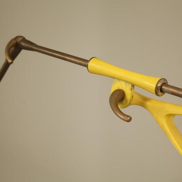 Image of Stilnovo Yellow Metal Extendable Kite Lamp. Italy, 1950s