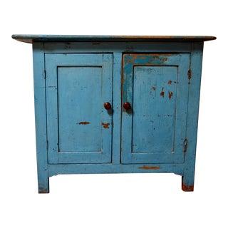 Vintage Blue Rustic Cabinet