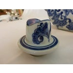Image of Blue & White Chinoiserie Teapot
