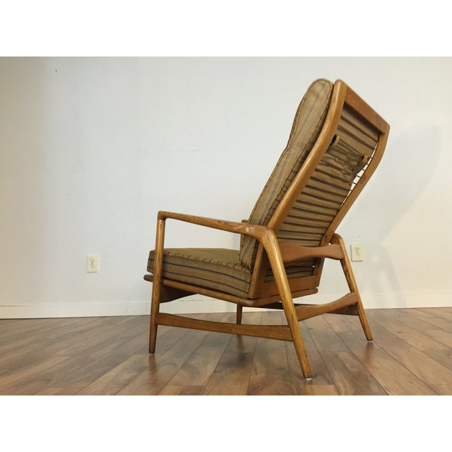 Mid-Century Adjustable High Back Lounge Chair - Image 3 of 11