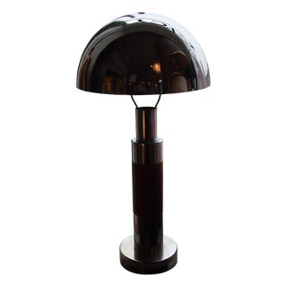 Chrome Dome Table Lamps - A Pair