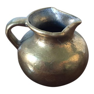 Vintage Solid Brass Pitcher or Vase