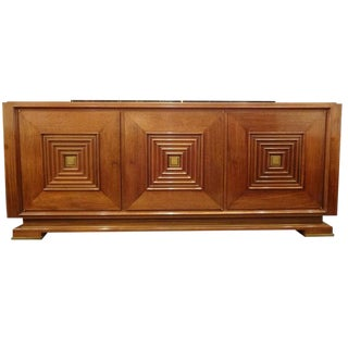 Mid-Century Sideboard in Hand Waxed Palisander and Bronze in the style of Maxime Old, France circa 1946