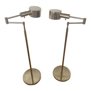 Phoenix Day Telescoping Swing Arm Floor Lamps - A Pair