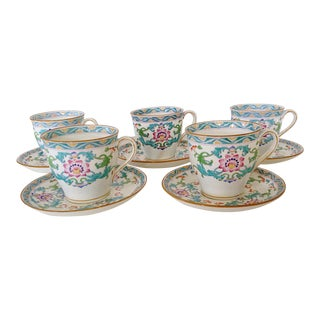 Minton Cups and Saucers - Set of 5