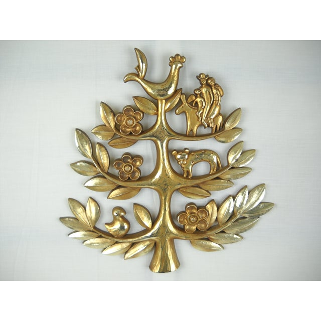 "Syroco Vintage ""Tree of Life"" Plaque - Image 2 of 8"