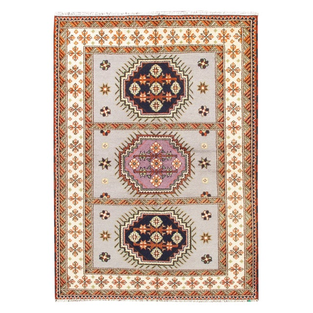 Apadana - Gray & Pink 6 x 8 Kazak Rug - Image 1 of 1