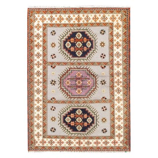 Apadana - Gray & Pink 6 x 8 Kazak Rug