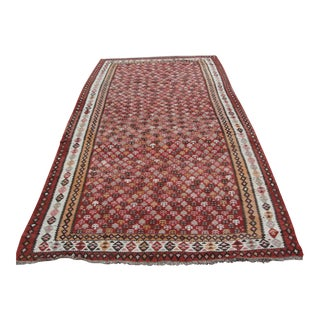 Vintage Turkish Kilim Rug - 5′5″ × 11′