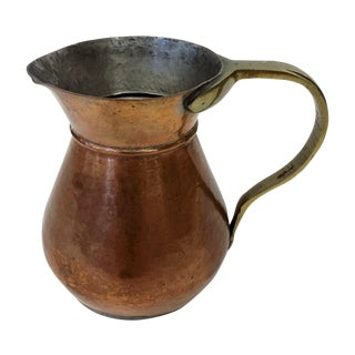 Antique Copper & Brass Pitcher