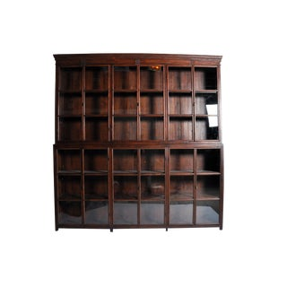 Impressive British Colonial Bookcase