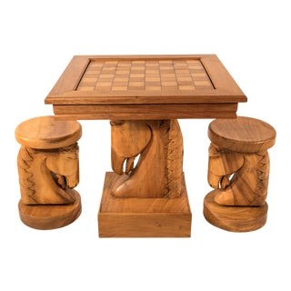 Billy Haines Style Horse Head Game Table and Seats