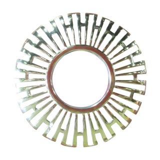Deco-Style Gold Bullseye Mirror