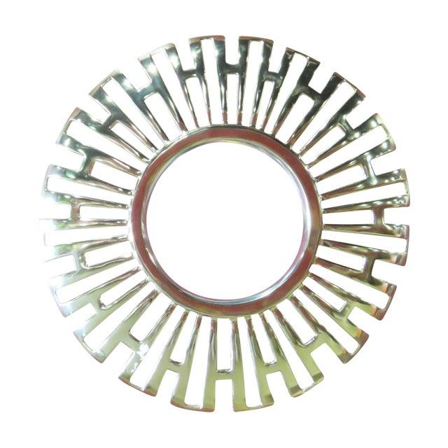 Image of Deco-Style Gold Bullseye Mirror
