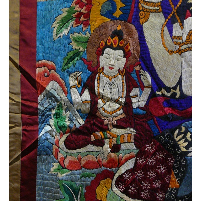 Embroidery Tibetan Tara Buddha Thangka Art - Image 8 of 10
