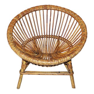 French Rattan Child's Chair