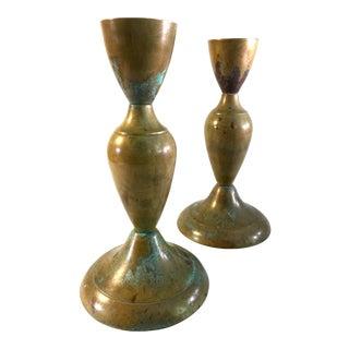Brass Candlesticks - Pair