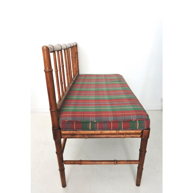 Vintage Bamboo Hall Bench - Image 3 of 6