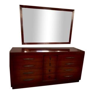 Mid Century Modern Long Dresser & Mirror