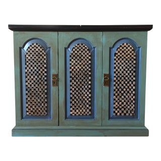 Vintage Hand Painted Bar Cabinet