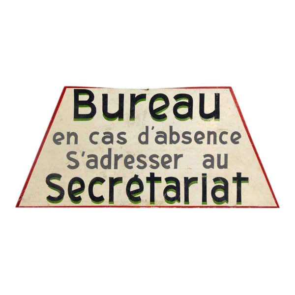 Wooden French Bureau Sign - Image 1 of 4